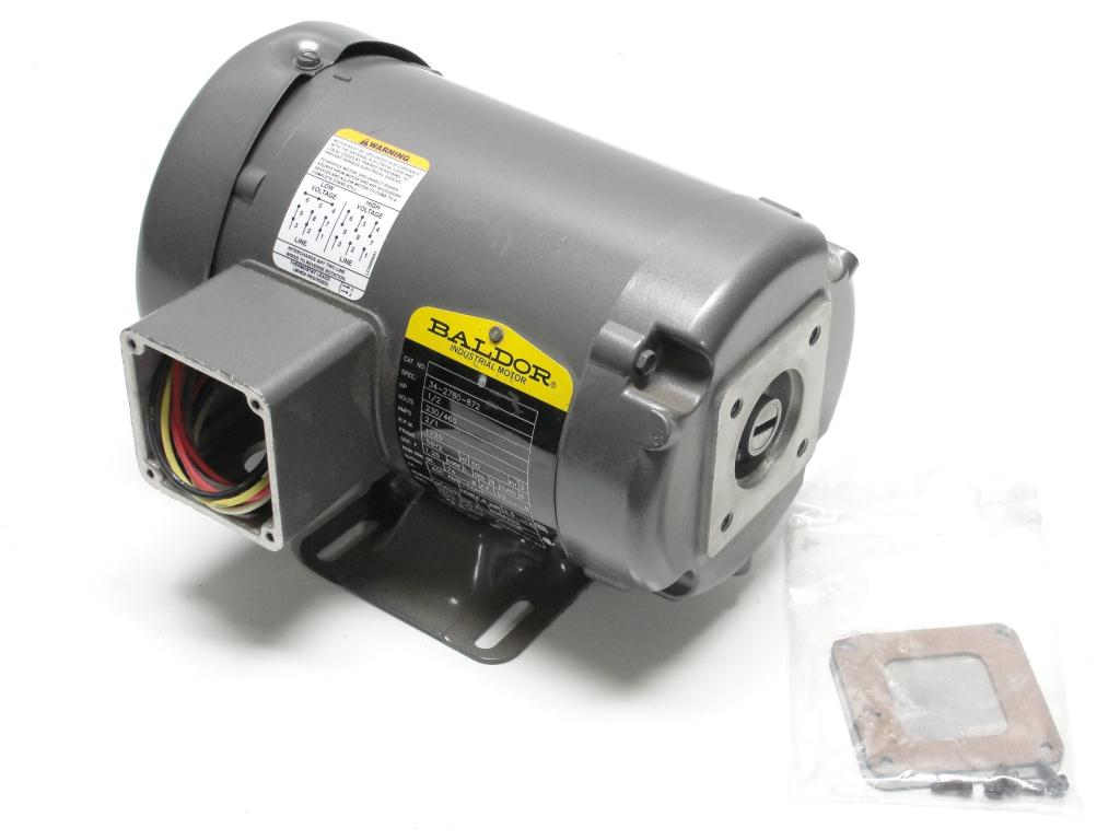 Baldor 56yz 1 2 hp 23 460 vac 3 phase 1725 rpm electric for 3 hp single phase electric motor
