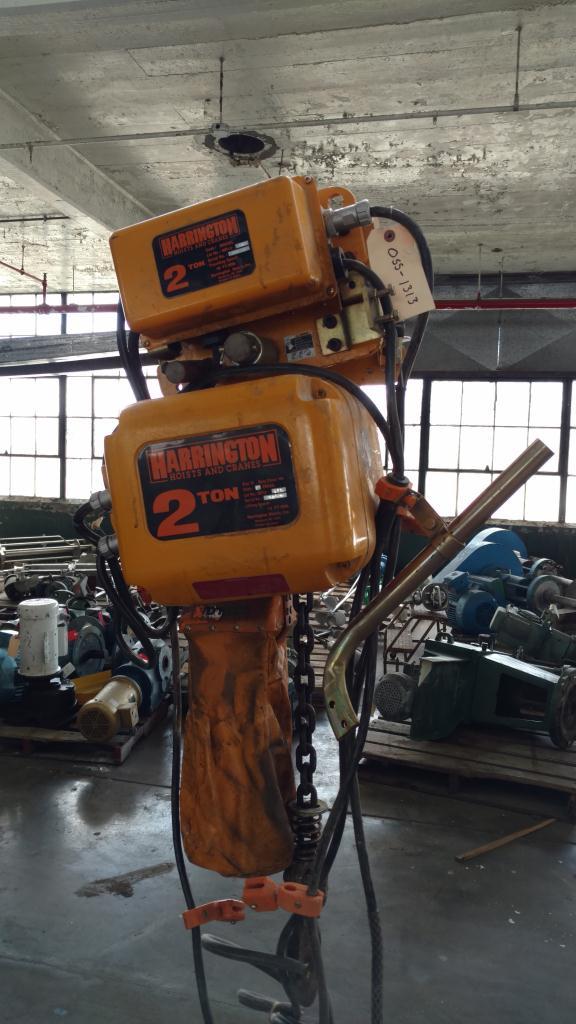 2 Ton Harrington chain hoist with power trolley1