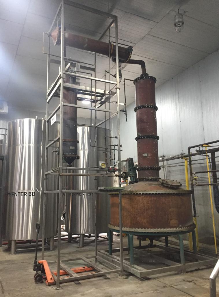1175 gallon Liberty Coppersmith pot still, 25 psi, copper1