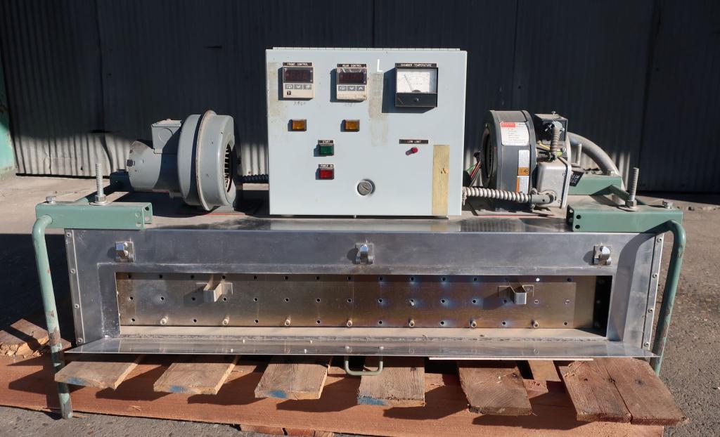 OAL Associates, Inc. model FIRO/P-1MDS-4/6/36-3L3L bottle neck band shrink tunnel, stainless steel, 4x6 work opening3