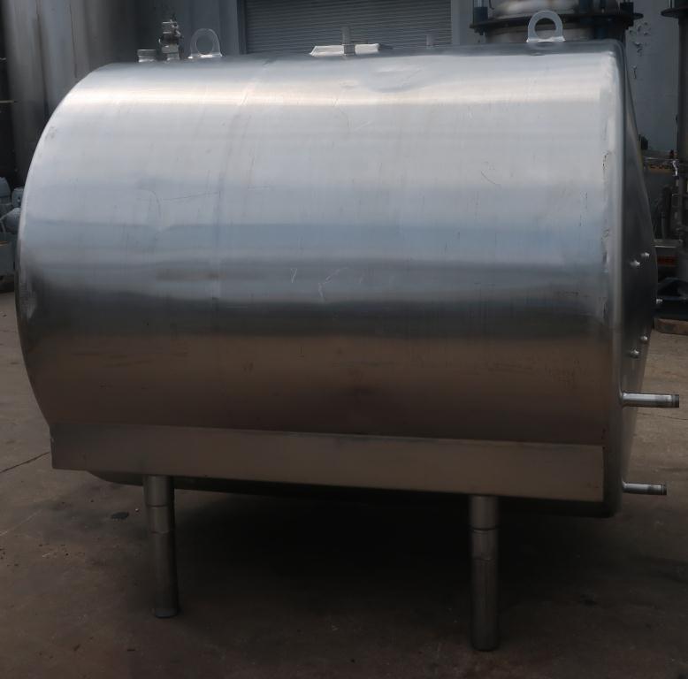 1,000 gallon Mojonnier Brothers horizontal tank, stainless steel, sanitary4