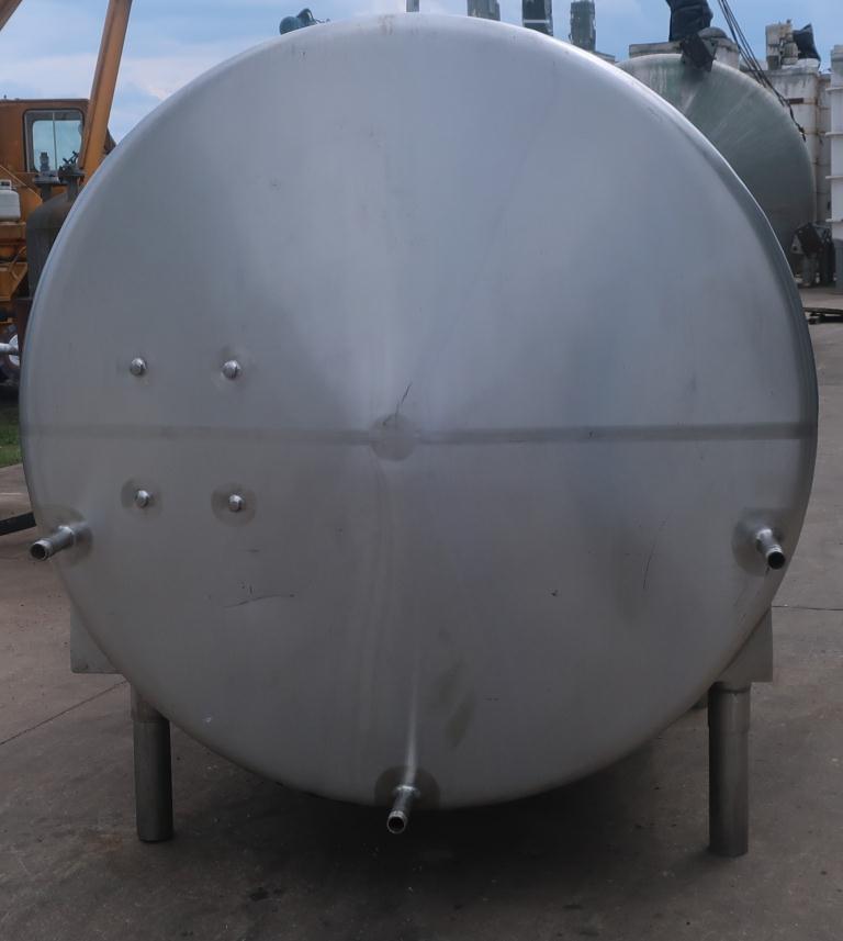 1,000 gallon Mojonnier Brothers horizontal tank, stainless steel, sanitary5