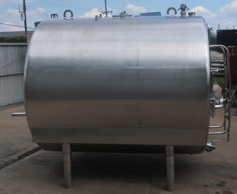 1,000 gallon Mojonnier Brothers horizontal tank, stainless steel, sanitary6