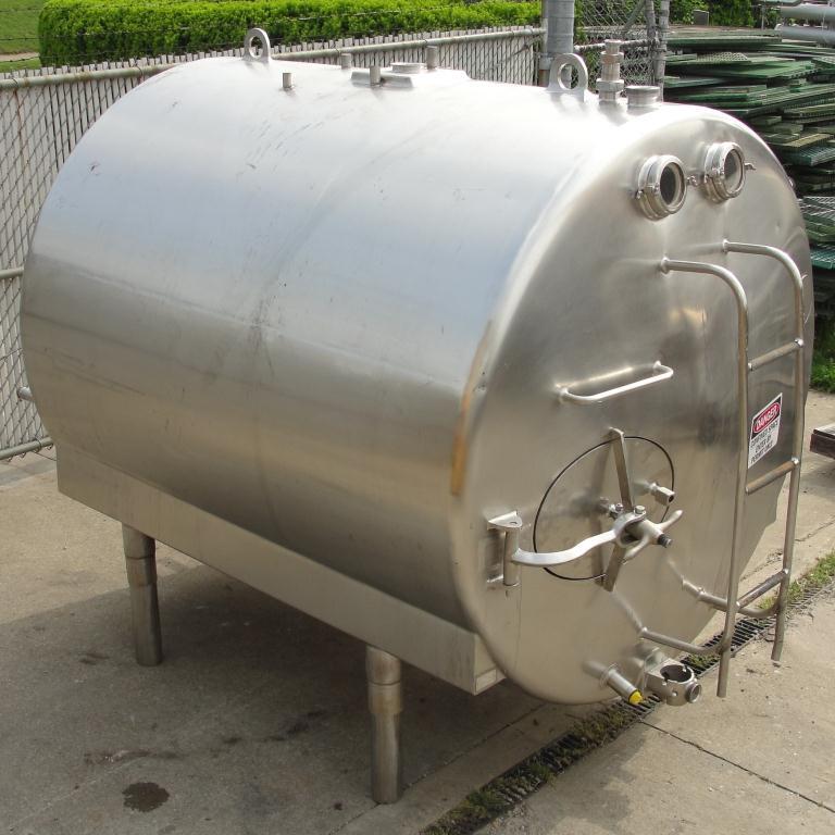1,000 gallon Mojonnier Brothers horizontal tank, stainless steel, sanitary7