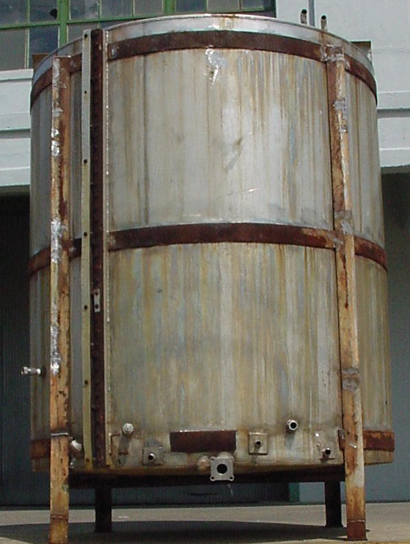 Tank 1000 gallon vertical tank, Stainless Steel, flat bottom1