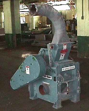 Granulator Andritz Sprout Bauer plastic granulator model DSF1512, 12 w x 6.75 l throat, 15 dia rotor1