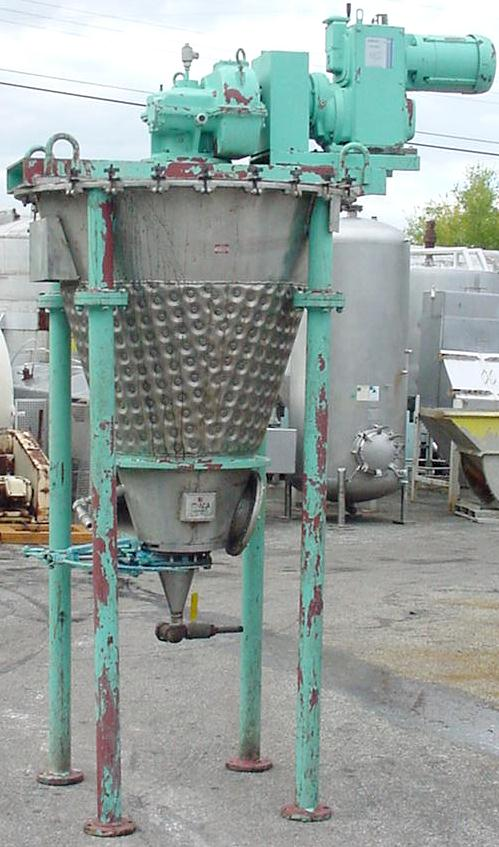 Mixer and Blender 7 cu. ft. capacity Day Mixing conical screw mixer, 14.9 psi jacket, 3 hp, 304 SS