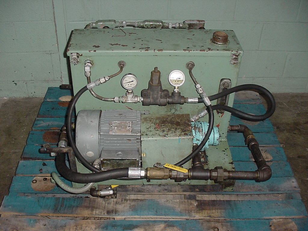 Pump 5 hp hydraulic power unit, 17 gal. reservoir tank1