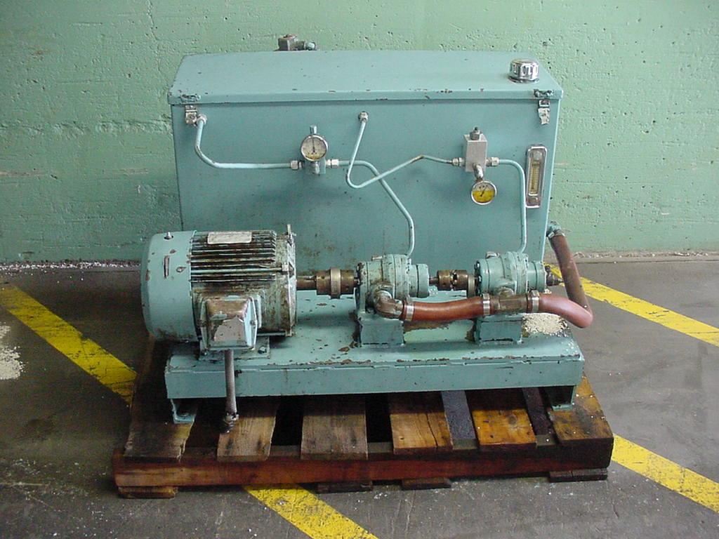 Pump 7.5 hp hydraulic power unit, 48 gal. reservoir tank1
