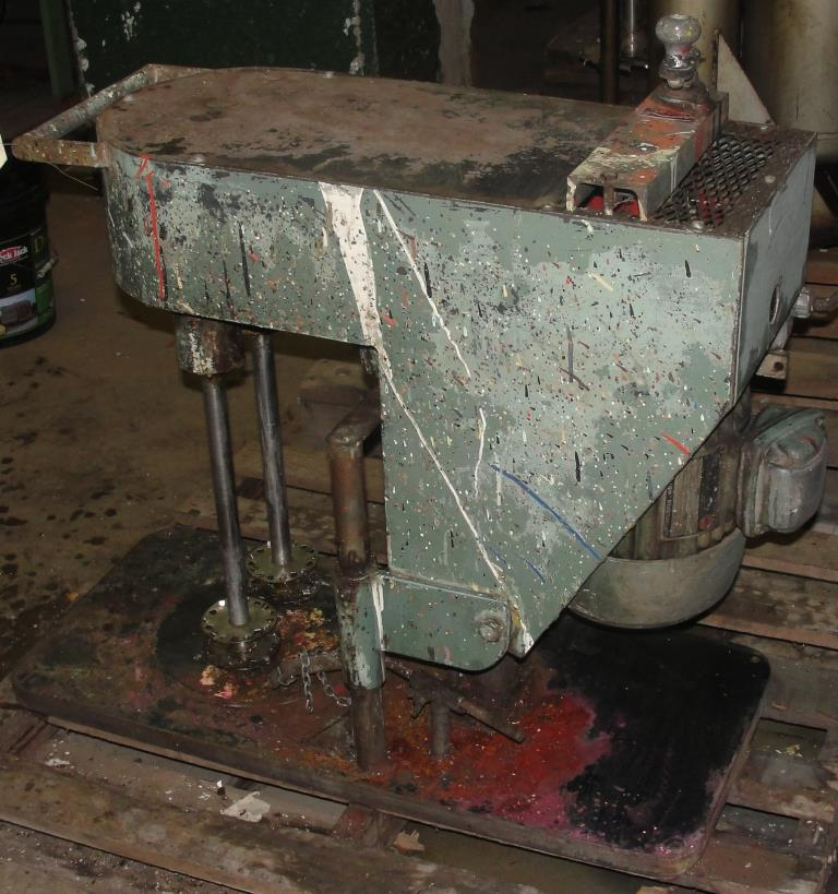 Mixer and Blender 2 hp Myers Engineering disperser, Tilting lift, variable speed drive3