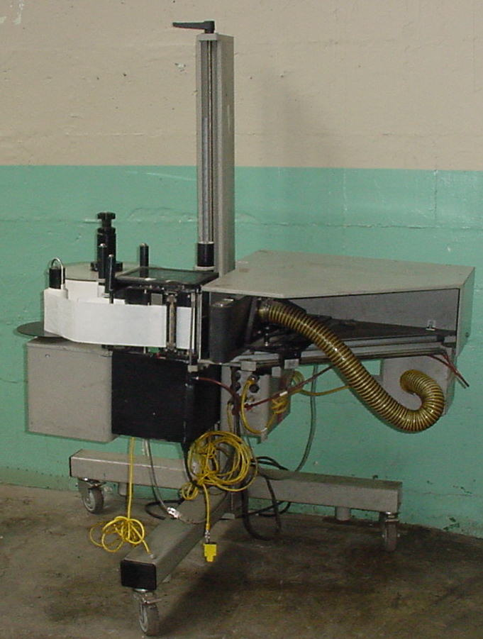 Labeler Marsh pressure sensitive labeler model L 5000 PA, corner wipe on, 12 per sec