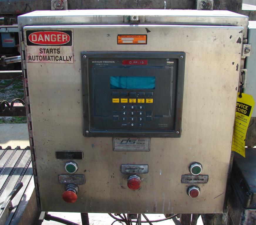 Complete Line General Scale liquid pail filling line model 502-S, 2 head, up to 14 cpm4