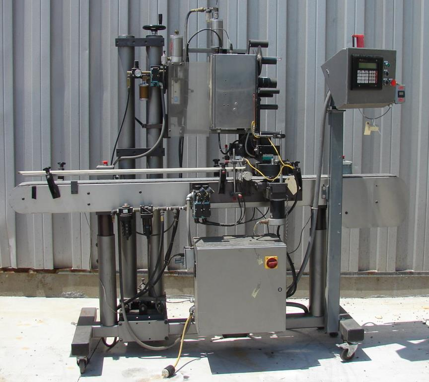 Labeler Label-Aire pressure sensitive labeler model 2111CD, Blow On