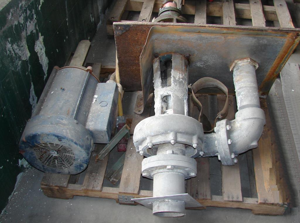 Pump 5x4x8 5/8 Crane Deming vertical centrifugal pump model 5562/4MD, 15 hp, 316 SS