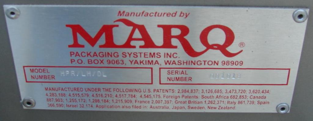 Case Sealer Marq top only case taper model HPR/LH/DL, speed 1200 cases per hour3