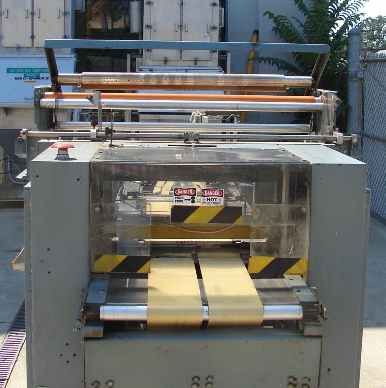 Wrapper Shanklin automatic shrink wrapping machine model F-3, speed up to 50 ppm3