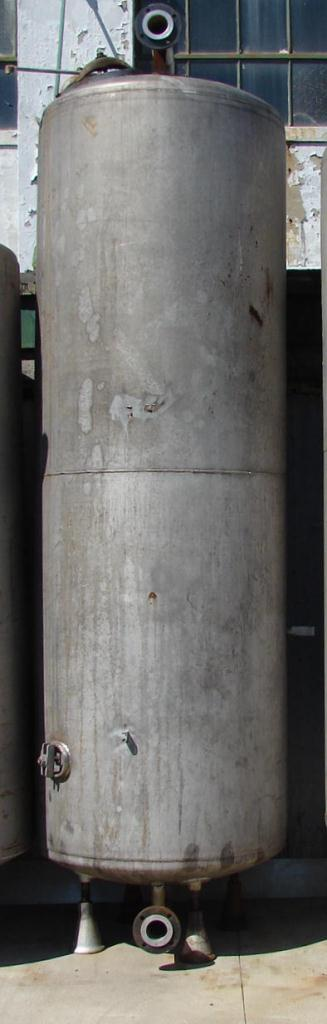 Tank 792 gallon vertical tank, Stainless Steel, dish Bottom