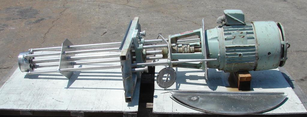 Homogenizer 20/10 hp Greerco batch high shear mixer model 6H79, Stainless Steel