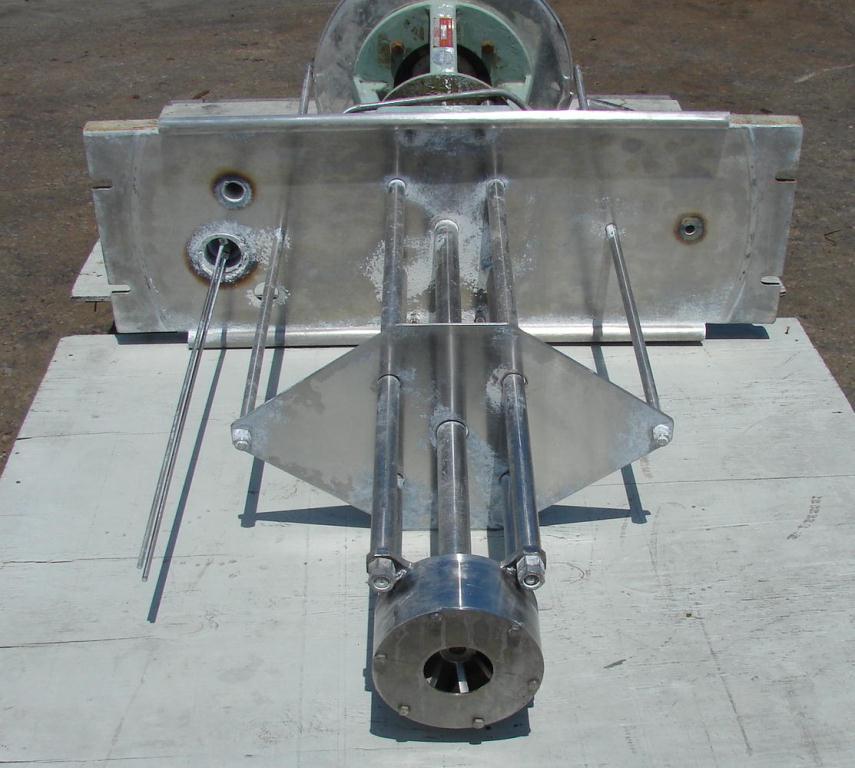 Homogenizer 20/10 hp Greerco batch high shear mixer model 6H79, Stainless Steel2