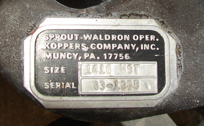 Valve 10 x 10 304 SS Sprout Waldron rotary airlock feeder model 1410 MST4