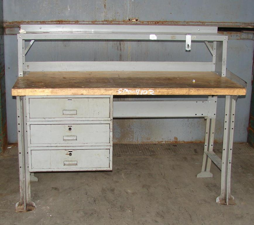 Miscellaneous Equipment work bench, 60 x 28 1.75 Maple top1