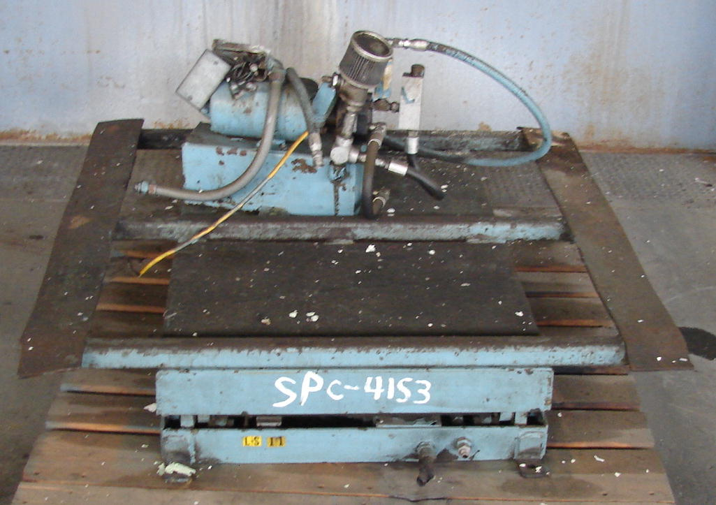 Material Handling Equipment scissor lift table, 40 x 40 platform1