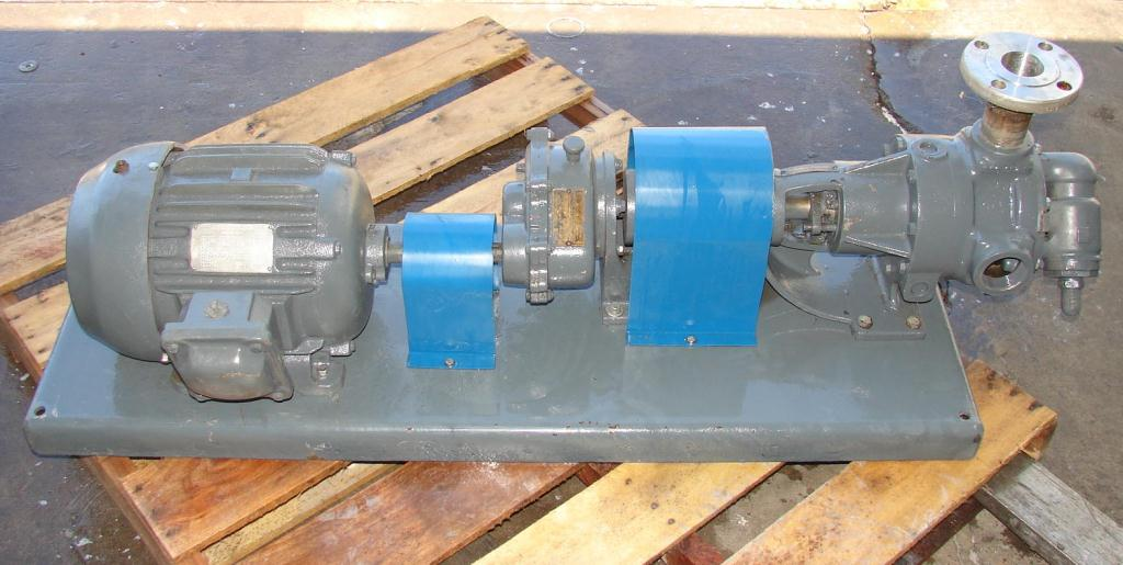 Pump 2 inlet Viking positive displacement pump model KK7288, 5 hp, Stainless Steel