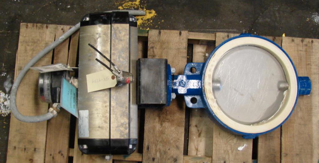 Valve 12 Keystone butterfly valve Stainless Steel, pneumatic operator1