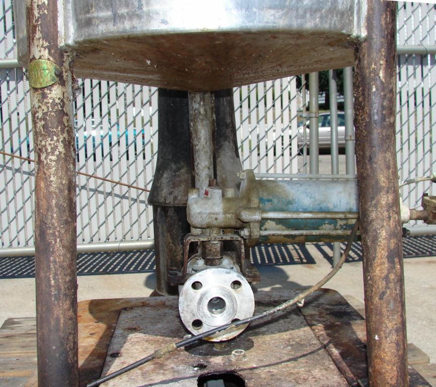 Tank 36 gallon vertical tank, Stainless Steel, slope bottom4