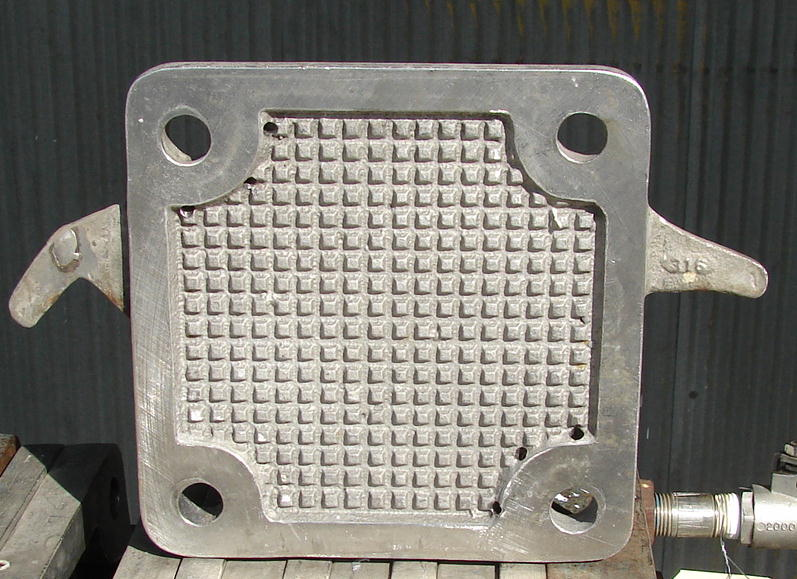Filtration Equipment 2 sq.ft. Sperry plate and frame filter model 47, Stainless Steel, 11 plates, .11 cuft capacity3