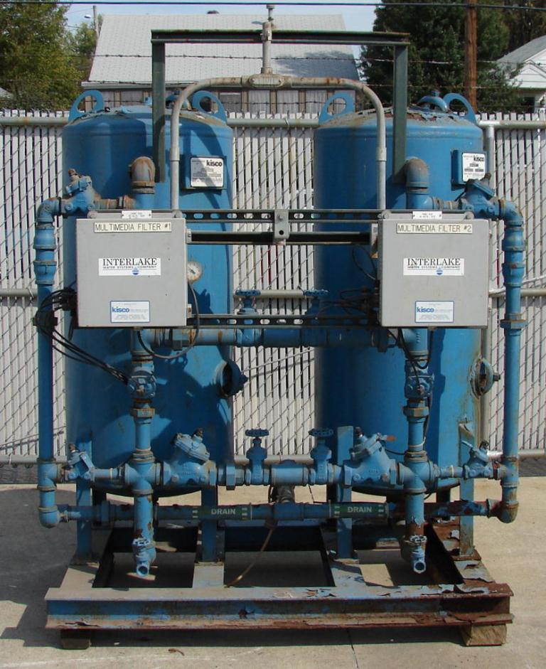 Filtration Equipment Interlake Water System carbon filter model TWAMM-24-2, CS, capacity up to 50 gpm