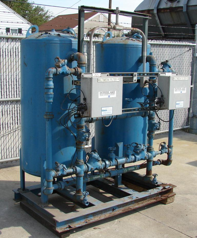 Filtration Equipment Interlake Water System carbon filter model TWAMM-24-2, CS, capacity up to 50 gpm3