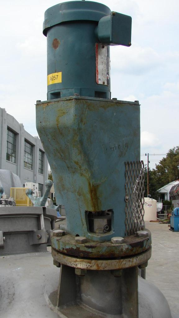 Reactor 200 gallon Mueller chemical reactor, 50 psi internal, 150 psi jacket, 1 hp agitator6