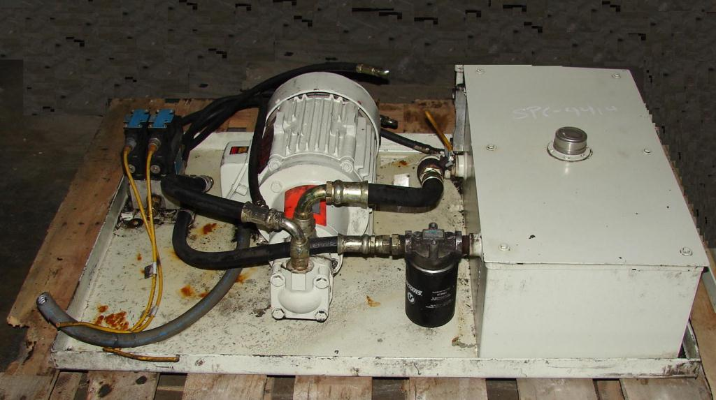 Pump 5 hp Vickers hydraulic power unit, model V20 IPSP 1A11, 15 gallon reservoir tank