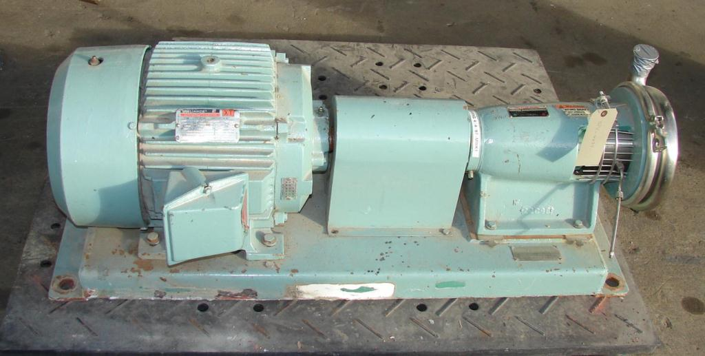 Pump 2x1x8 Tri-Flo Pump centrifugal pump, 15 hp, Stainless Steel