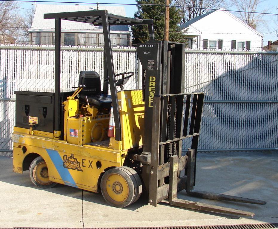 Forklift 4,000 lbs. Drexel electric forklift model FL40EX1