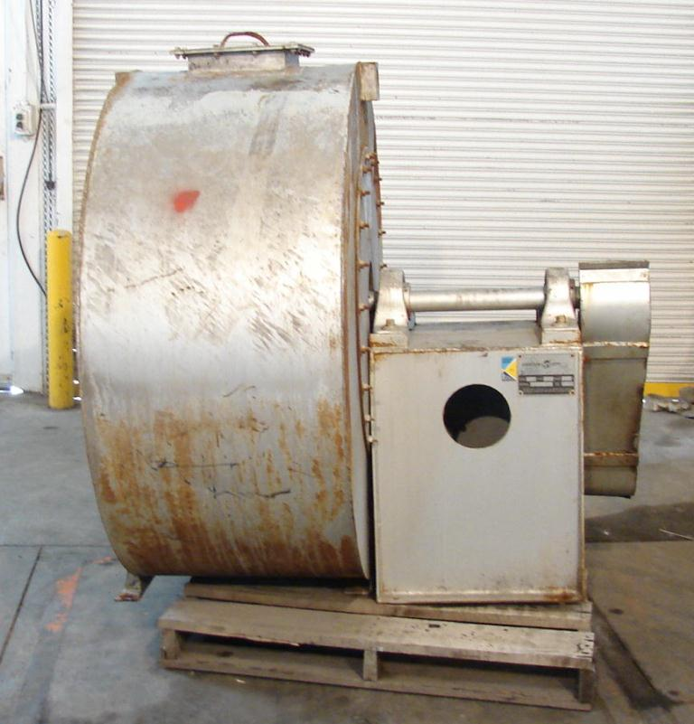 Blower centrifugal fan Garden City size 17 model RF-2, 10 hp, Stainless Steel Contact Parts5
