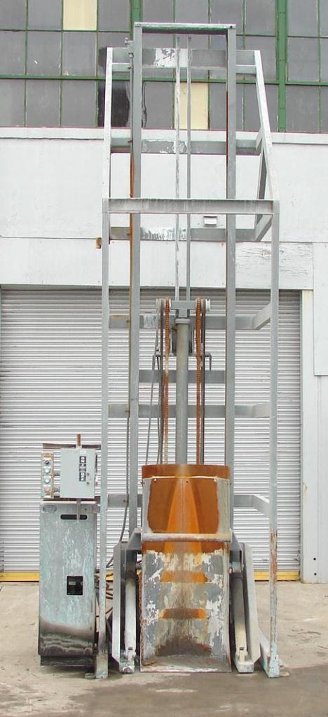 Material Handling Equipment drum dumper, 2000 lbs. Tubar Dumper 197 discharge ht.1