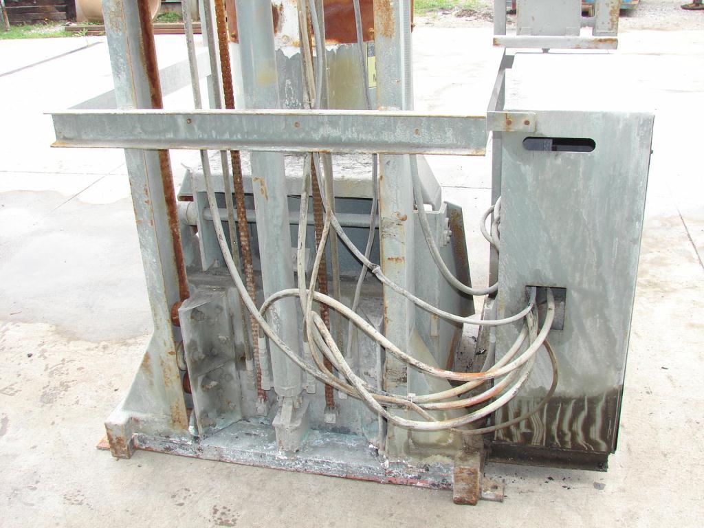 Material Handling Equipment drum dumper, 2000 lbs. Tubar Dumper 197 discharge ht.3