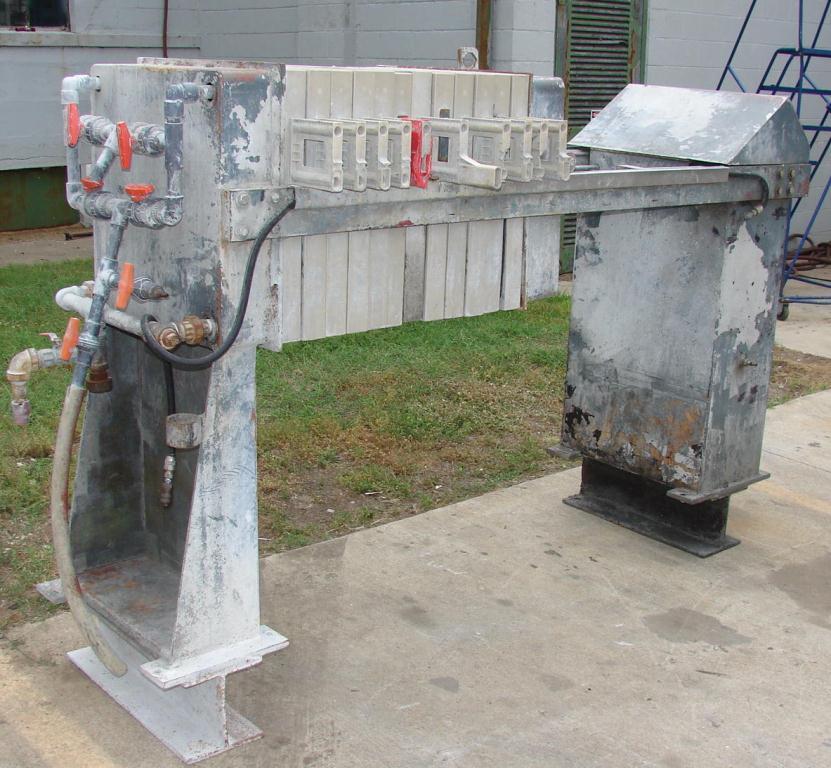 Filtration Equipment 3.2 cuft Cal-Press recessed plate filter press model AC 25-X, Polypropylene2