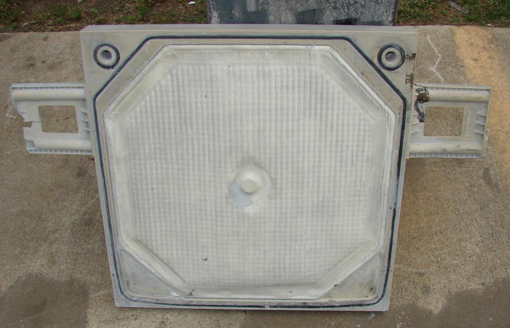 Filtration Equipment 3.2 cuft Cal-Press recessed plate filter press model AC 25-X, Polypropylene3
