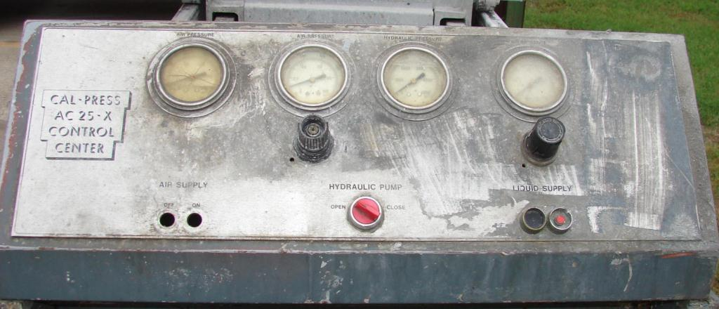 Filtration Equipment 3.2 cuft Cal-Press recessed plate filter press model AC 25-X, Polypropylene4
