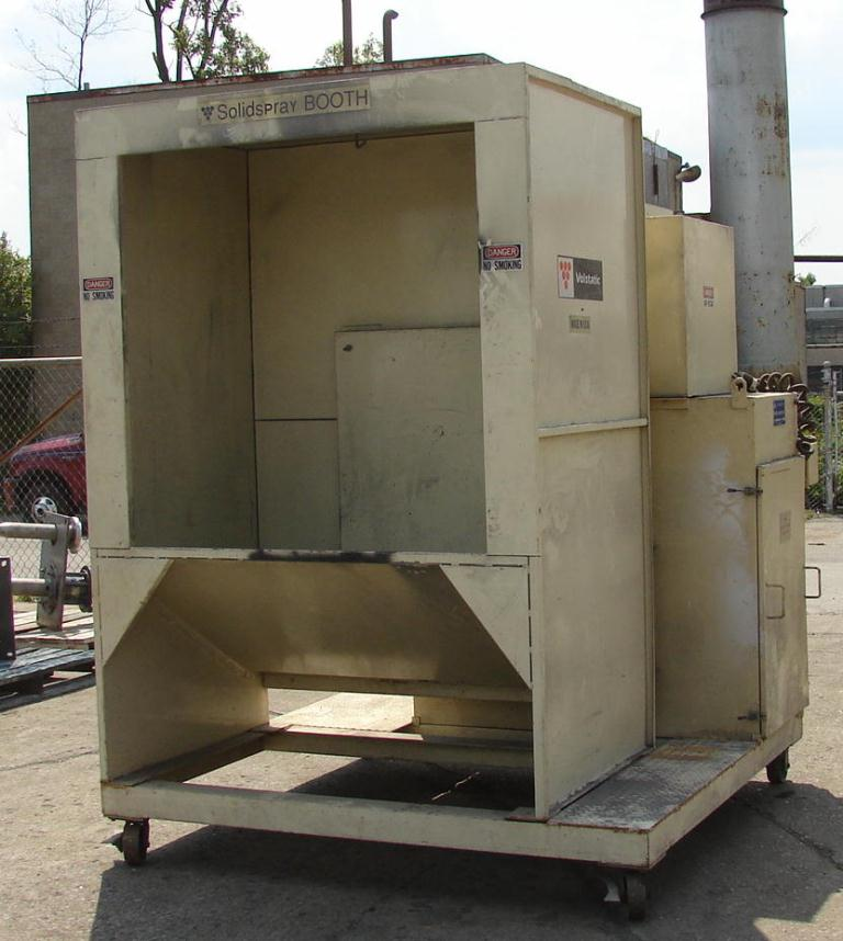 Miscellaneous Equipment powder paint booth, Volstatic model Solidspray, 48x481