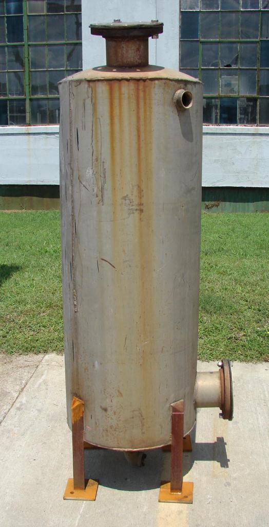 Tank 125 gallon vertical tank, Stainless Steel, dish bottom3