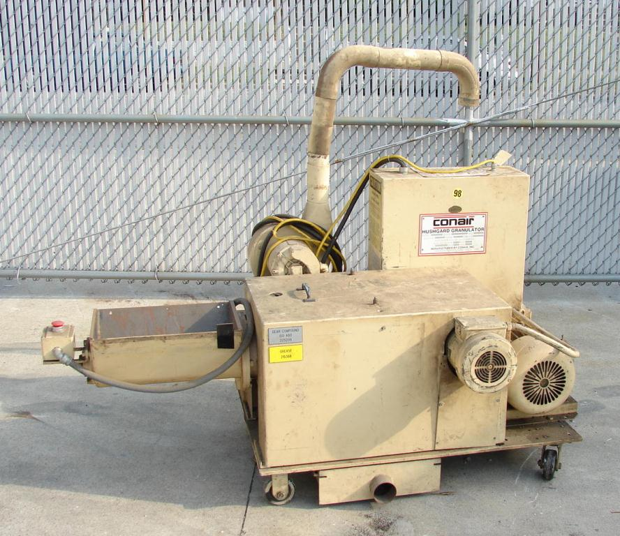 Granulator 5 hp Conair plastic granulator model 720-008-01, 11 x 17 throat, 9 x 10 rotor1