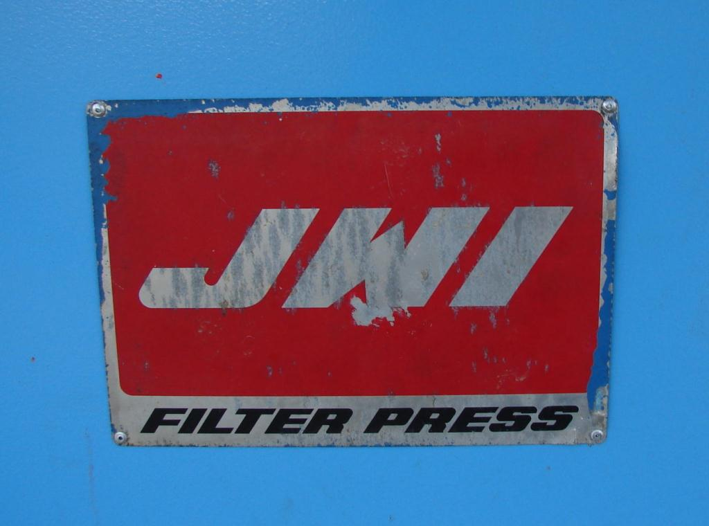 Filtration Equipment 194 cu ft JWI recessed plate filter press model 1450mm, Polyethylene9