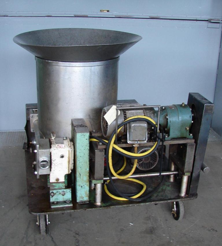 Pump 2 inlet Peters Machinery Co. positive displacement pump model 3R, 2 hp, Stainless Steel1