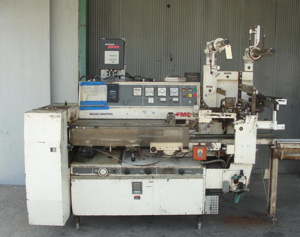 Wrapper FMC horizontal flow wrapping machine model WA520, speed 200 ppm2