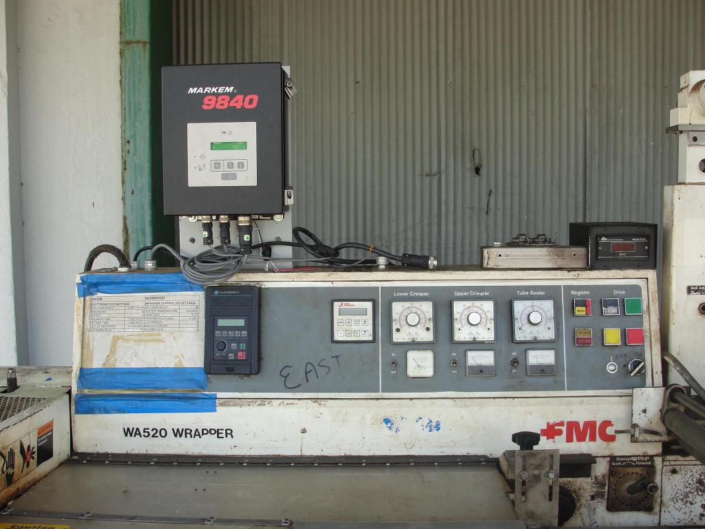 Wrapper FMC horizontal flow wrapping machine model WA520, speed 200 ppm4
