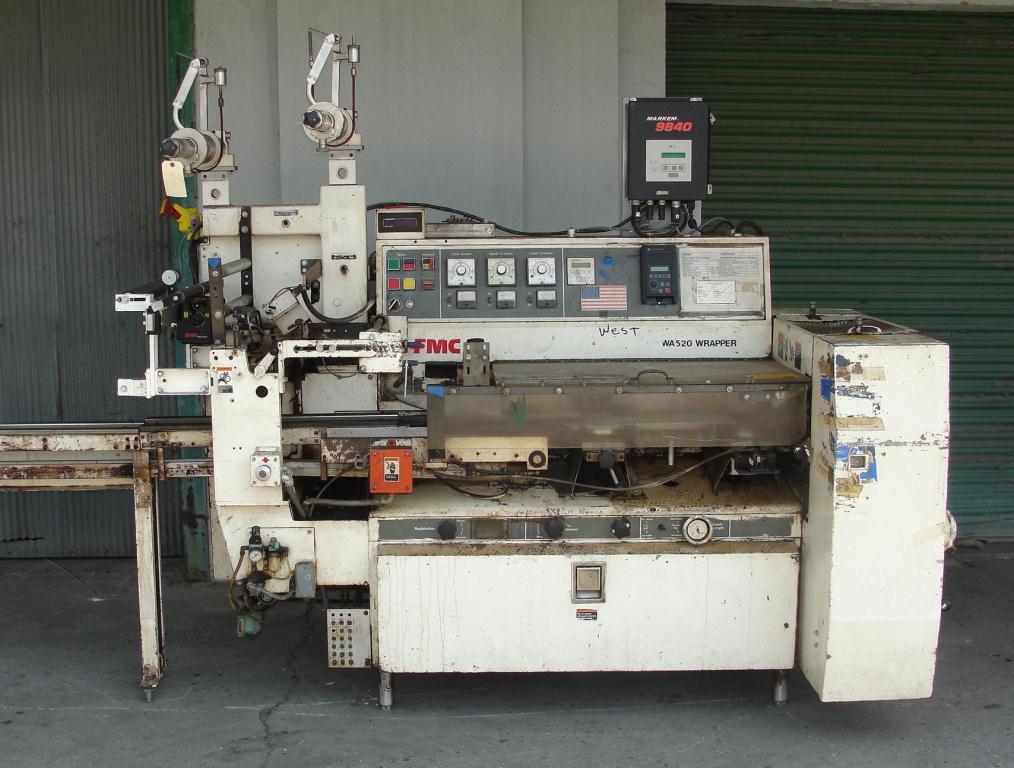 Wrapper FMC horizontal flow wrapping machine model WA520, speed 200 ppm2